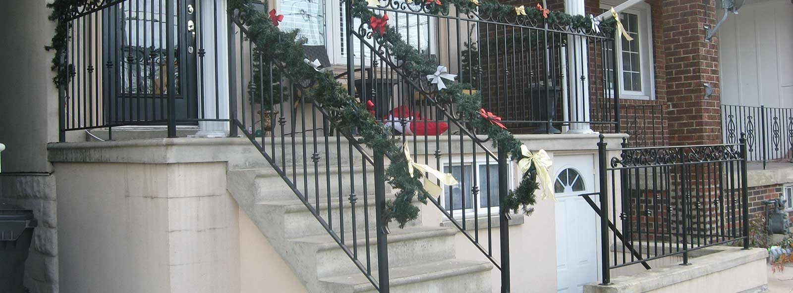 deck and stair iron railings
